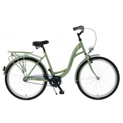 """Mestský bicykel 26 Kands S-Comfort 1-prevodový Velo 18"""" matný Zelený"""