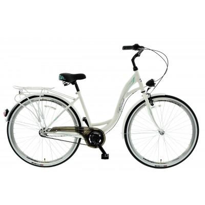 """Mestský bicykel 28 Kands S-Comfort 3-prevodový Nexus 18"""" matný Biely"""