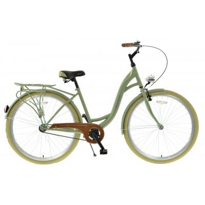 """Mestský bicykel 28 Kands S-Comfort Velo 1-prevodový 18"""" matný Zelený"""