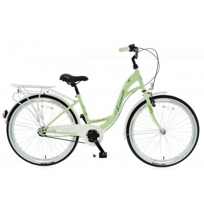 """Mestský bicykel 26 Kands Giulia 3-prevodový 15"""" matný Zeleno-biely"""
