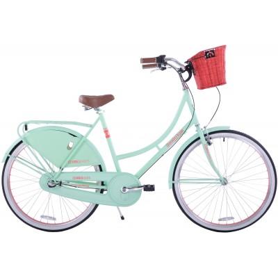 """Mestský retro bicykel 28"""" Hello Bikes Amsterdam 3-prevodový 22,5"""" Pistáciový"""