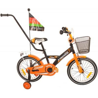 """Detský bicykel 16"""" Prime Fun oranžový"""