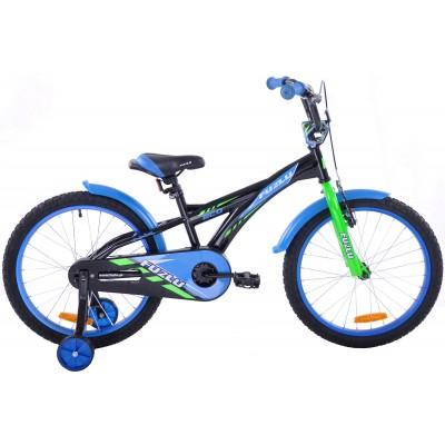 Detský bicykel 20 Fuzlu Eco čierno-modrý