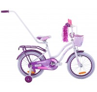 "Detský bicykel 16"" Fuzlu Niki bielo-fi..."