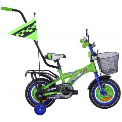 Detský bicykel 12 BMX Racing Fuzlu zeleno-modrý
