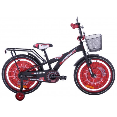 Detský bicykel 20 Fuzlu Racing Sport matný čierno-červený