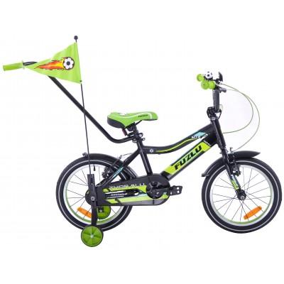 """Detský bicykel 16"""" Fuzlu Thor hliníkový čierny"""