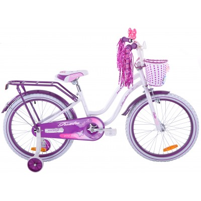 Detský bicykel 20 Fuzlu Niki bielo-fialový