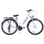 Trekingový bicykel Dámsky 28 Fuzlu Escape Bielo-tyrkysový