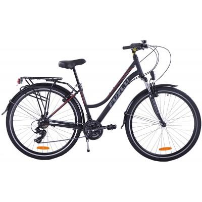 """Trekingový bicykel 28 Fuzlu Core Dámsky 17"""" Čierno-červený"""