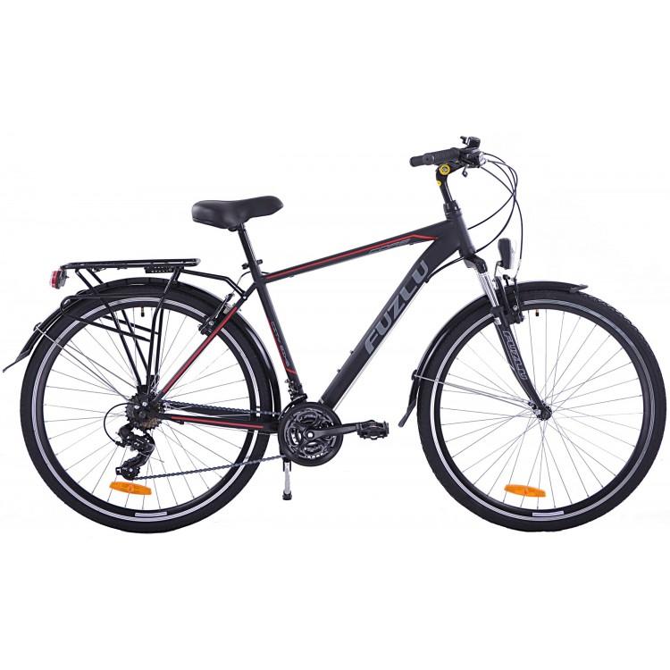"Trekingový bicykel 28 Fuzlu Core 19"" Čierno-červený"