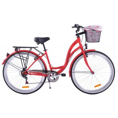 Mestský bicykel 28 Fuzlu Nevada S-7 Červený matný