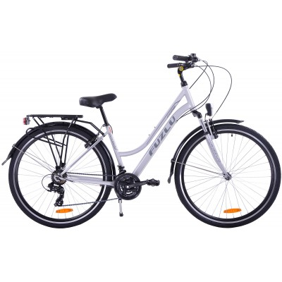 "Trekingový bicykel 28 Fuzlu Core Dámsky 17"" Strieborno-sivý"