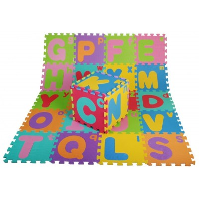 Puzzle abeceda, penová Eva - farebné