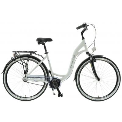 "Mestský bicykel 28"" Kands Venice matný bielo-fialový hliníkový 19"" 3-prevody"