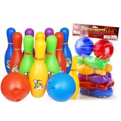 Farebná bowlingová sada 10 kusov
