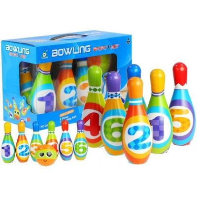 Bowlingové kolky s číslami pre batoľatá
