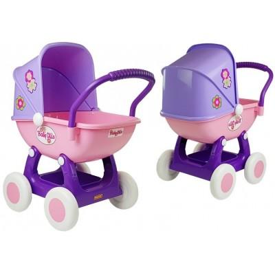 Detský kočík pre bábiky Arina fialovo-ružový