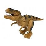 Dinosaurus Tyrannosaurus Rex na batérie -hnedý