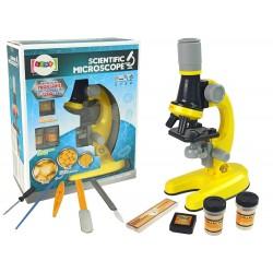 Mikroskop pre vedcov 100x 400x 1200x žltý