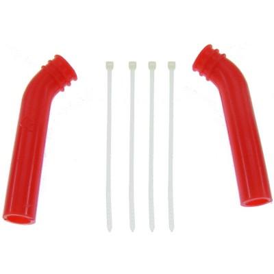 Silikónový kryt výfuku (deflektor) 10mm (červený) -1 ks