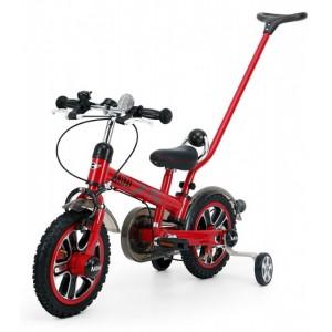 "Detský bicykel 12"" Rastar Mini s rúčkou - červený"