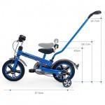 "Detský bicykel 12"" Rastar Mini s rúčkou - modrý"
