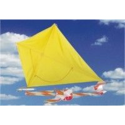 Lietajúci šarkan 95cm žltý