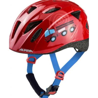 Detská cyklistická prilba hasiči červená S 47-51 cm