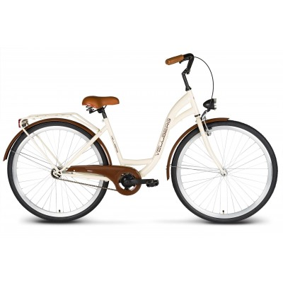 """Bicykel VELLBERG 28"""" ECO 1 prevodový Krémovo-hnedý"""