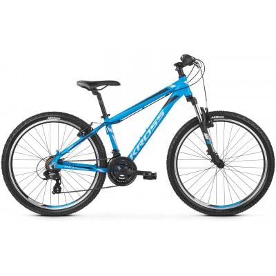 """Horský Bicykel 26'' Kross Hexagon 1.0 Hliníkový L 21"""" Modro-strieborno-čierny matný"""
