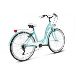 Bicykel 26 VELLBERG HAVANA TY-300 7 Prevodový Tyrkysový