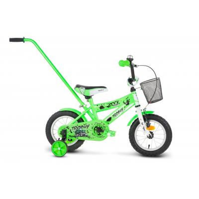 Detský bicykel 12 Rock Kids Trophy Zelený