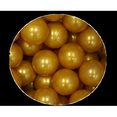 Loptičky do suchých bazénov Golden kids 100 ks - zlaté